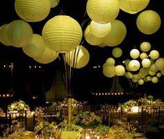 Wedding Decor : Paper Lanterns from Luna Bazaar! wedding decor Fire in the Sky: Chinese Paper Lanterns Paper Lantern Centerpieces, Lantern Centerpiece Wedding, Wedding Lanterns, Paper Lanterns, Wedding Centerpieces, Wedding Decorations, Green Lanterns, Table Lanterns, Hanging Lanterns