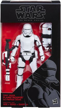 Star Wars the Black Series 6 inch First Order Flametrooper The Black Series action figures from The Force Awakens! It's your chance to get your favorite characters as an exquisitely detailed 6-inch ta