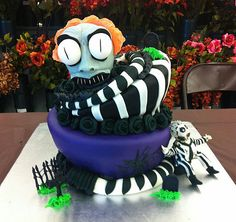 Beetlejuice Cake by Asa's Cakes in San Diego
