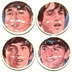 Vintage BEATLES LENNON McCARTNEY HARRISON RINGO on 1965 REAL U.S. QUARTERS COINS