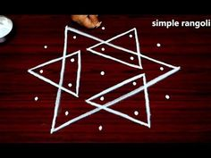 beginners sikku kolam designs with 5x3 dots || melika muggulu with dots || muggulu rangoli designs - YouTube
