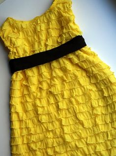 20 Minute Ruffle Dress by mecrazysew #Kids #Dress #DIY #meerufflesew