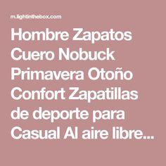 info for f7425 64775 Hombre Zapatos Cuero Nobuck Primavera Otoño Confort Zapatillas de deporte  para Casual Al aire libre Blanco Negro Rojo Azul