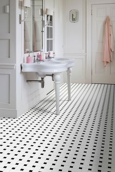 Vinyl is no longer the flooring choice of bathrooms and kitchens. Due to it's wealth of designs and it's praciticality, it can be used all around the home. From traditional monochrome to modern geometric designs there are styles to suit all decors.