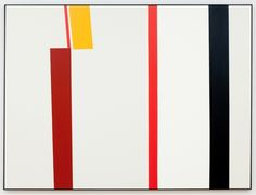"Clare E. Rojas  Brown/Yellow/Red/Blue/White  2012  Oil on Linen  72"" x 96"""