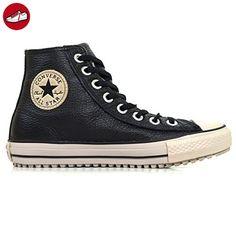 Converse Herren Schuhe Chucks Chuck Taylor Leder mit Warmfutter Winterboots  CT All Star Boot Schwarz Sneakers