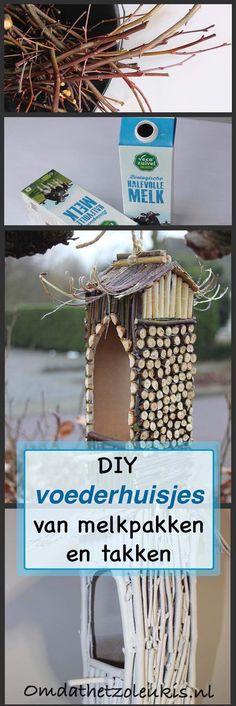 melkpak | takjes | voederhuisjes | wit en naturel | pinda's | vogels | upcycle | re-purpose | recycle | winter | voeren
