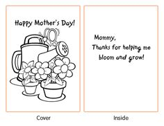 free printable mothers day cards for preschoolers yahoo image search results