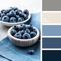 In dark blue colour palette colours are formed by the introduction of white and gray-beige shades. Pleasant visual experience are reached by muted softness