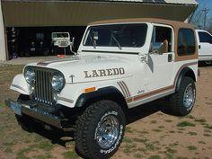 White CJ-7 Laredo Two Door Jeep Wrangler, Used Jeep, Jeep Cj7, Jeep Accessories, Jeep Stuff, Jeep Truck, Scrambler, Back In The Day, Offroad