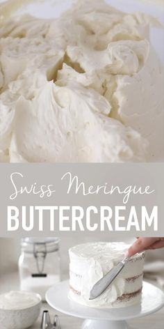 Swiss Meringue Buttercream, Buttercream Cake, Coconut Buttercream Frosting Recipe, Frosting For White Cake, Easy Meringue Recipe, Icing Recipe For Cake, Wedding Cake Frosting, Sugar Free Frosting, How To Make Meringue