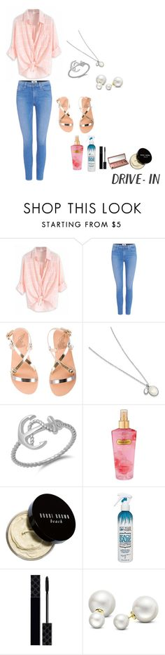 """Semi-Sheer Shirt"" by lucabella22 ❤ liked on Polyvore featuring Paige Denim, Ancient Greek Sandals, Victoria's Secret, Bobbi Brown Cosmetics, Not Your Mother's, Urban Decay, Gucci, Allurez, DateNight and drivein"