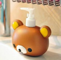 FD4394-Rilakkuma-San-X-Relax-Bear-Head-Bath-Dispenser-Shampoo-Bottle-$5