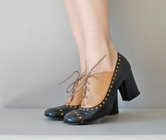 60s shoes / oxford shoes / Mod Spectator Oxfords by DearGolden, $135.00