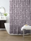 Foliage Shower Curtain is the perfect design for your washroom Features mauve sheer fabric with soft foliage silhouettes Canadian Tire, Master Bath, Mauve, Friendship, Sisters, Curtains, Shower, Design, Rain Shower Heads