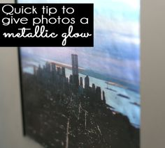 AWESOME & SO EASY! In just five minutes you can give your photos a shiny, metallic glow with this simple tutorial.