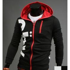 $ 24.77+ free shipping! Brief Design Letter Print Hooded Hoodie Hoodies Coat Jacket Top Sport Wear For Men Boys