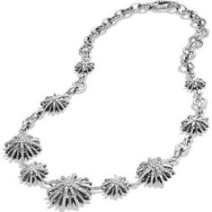 """David Yurman Starburst necklace  Worn only a few times. Perfect condition. David Yurman Starburst Link Necklace with Diamonds Details Sterling silver Pavé diamonds, 1.58 total carat weight Starbursts, 27-13 x 25-13mm diameter 17.5"""" long. Color: SILVER. Free concierge service for this item to verify authenticity. David Yurman Jewelry Necklaces"""