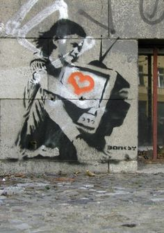 2.) Banksy was born and raised in Bristol,  England. Banksy first had a hand in art when he was 14.