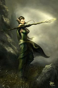 Nissa - Magic The Gathering by PierluigiAbbondanza.deviantart.com on @deviantART