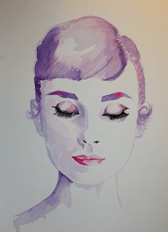 Audrey Hepburn by NicolaMacNeil on Etsy, $18.45 Honey PLEASE get this for me!!! It's so beautiful!
