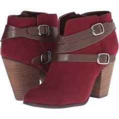 Womens Boots CARLOS by Carlos Santana Helene Merlot