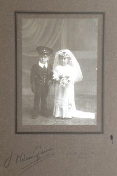Larger format photograph by Gilham mounted on pre-printed cardboard. Circa 1912 via Carol Hardijzer Postcard Format, Unknown Soldier, Picture Postcards, Pretoria, Photographic Studio, Vintage Weddings, Art Forms, New Art, Larger