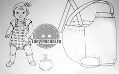 Выкройка песочника - Одежда для малышей - Выкройки для детей - Каталог статей - Выкройки для детей, детская мода