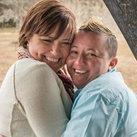 Alisa + Julie - Read their love story - LGBT Couple that entered to win the 2015 EnGAYged Wedding EXPO Honeymoon and LGBT Wedding Giveaway!