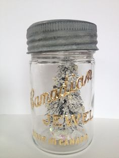 Shop for on Etsy, the place to express your creativity through the buying and selling of handmade and vintage goods. And July, Mason Jars, October, Canada, Homemade, Unique Jewelry, Handmade Gifts, How To Make, Gold