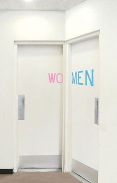 WO MEN by Aliza Dzik This would have been a good solution for that bathroom design project. I miss design school...
