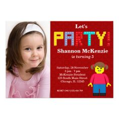 Sold this building #block #birthday girl invitation to IL. Thanks for you who purchased this.