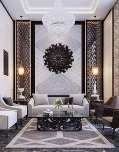 Welcome to our 2019 summer gallery of popular living room decor ideas. We are sure that this year Luxury Home Decor, Luxury Interior Design, Luxury Homes, Sala Hotel, Chandelier In Living Room, Living Room Decor, Living Rooms, Bedroom Decor, Interior Design Living Room