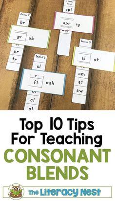 Top Ten Tips for Teaching Consonant Blends - The Literacy Nest Dyslexia Activities, Phonics Activities, Reading Activities, Reading Strategies, Dyslexia Strategies, Matter Activities, Phonics Books, Reading Games, Language Activities