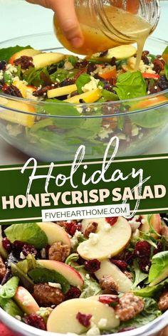 Apple Salad Recipes, Green Salad Recipes, Healthy Salad Recipes, Vegetarian Recipes, Cooking Recipes, Green Apple Salad, Apple Cranberry Salad, Cranberry Salad Recipes, Pear Salad