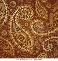 Paisley pattern in brown