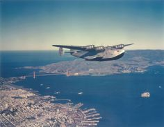Boeing Clipper over San Francisco.