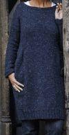 Strickkleid aus Tweed mit Taschen