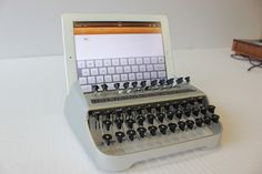 One-Off Keyboard Prototype Turns iPad Into Typewriter coolest ipad keyboard ever!