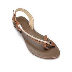 Yoins Brown Metallic Looped Toe Slip-on Sandals ($29) ❤ liked on Polyvore featuring shoes, sandals, punk rock shoes, brown sandals, ankle wrap sandals, ankle tie shoes and metallic sandals