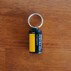 Recycled 35mm Film Keychain  Kodak Portra by vintagecollectorshop, $5.00