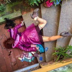 """This satirical photo series called """"In Extremis (Bodies With No Regret)"""" by photographer Sandro Giordano depicts unfortunate people the moment after they fell, surrounded by their material possessions. Photographs Of People, Pictures Of People, Autumn Photography, Creative Photography, Colour Photography, Funny Photography, People Photography, Photography Ideas, Sandro Giordano"""