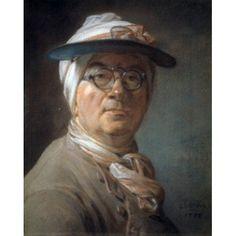 Self Portrait 1775 Jean-Simon Chardin (1699-1779 French) Musee du Louvre Paris France Canvas Art - Jean Simon Chardin (24 x 36)