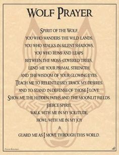 Spirit Totem Animals:  Wolf Prayer.