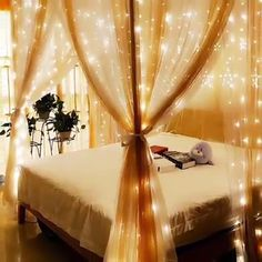 😱 EASY ONLY WOOW 😍 Light Curtain 🤩 - BRIGHTY – the radiantly beautiful feel-good curtain! 😱🥰🤗 creates a feel-good atmosphere - Cozy Bedroom, Bedroom Decor, Bmw Autos, Curtain Lights, Cool Curtains, Ideas Geniales, Interior Decorating, Interior Design, Decoration Table