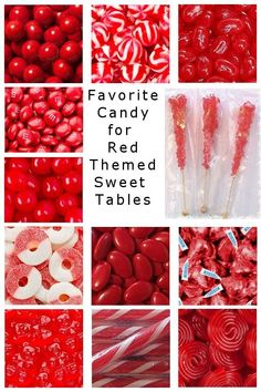 Candy Buffet Red Candy - Most favorite candy for a red themed candy buffet, candy table or sweet table. Imágenes efectivas q - Red Candy Bars, Red Candy Buffet, Candy Buffet Tables, Red Party Themes, Party Ideas, Cumpleaños Lady Bug, Bar A Bonbon, Sweet 16 Decorations, Candy Bar Wedding