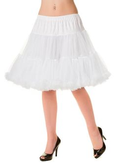 Banned Dress Rockabilly Starlite Petticoat Under Skirt 10 12 14 16 White Retro 50, Retro Vintage, Short Petticoat, Style Rockabilly, Vintage Outfits, Dancing Day, Pin Up Photography, 50s Dresses, Wedding Dresses