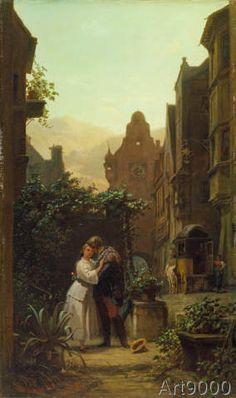 Carl Spitzweg - Der Abschied (48,0 x 83,0 cm)