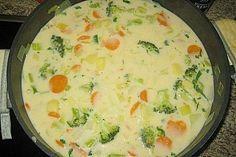 Claudis Kartoffel - Gemüse - Käsesuppe, ein beliebtes Rezept aus der Kategorie Eintopf. Bewertungen: 42. Durchschnitt: Ø 4,5.