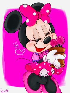 Minnie Mouse Pics, Minnie Mouse Drawing, Mickey Mouse Images, Mickey Mouse Cartoon, Mickey Mouse And Friends, Disney Mickey Mouse, Disney Love, Disney Art, Walt Disney